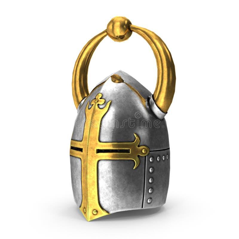 het 3D teruggeven van middeleeuwse helm royalty-vrije stock foto's