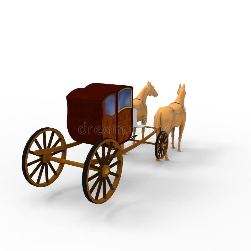 het 3d teruggeven van paard door een mixerhulpmiddel te gebruiken dat wordt gecreeerd royalty-vrije illustratie