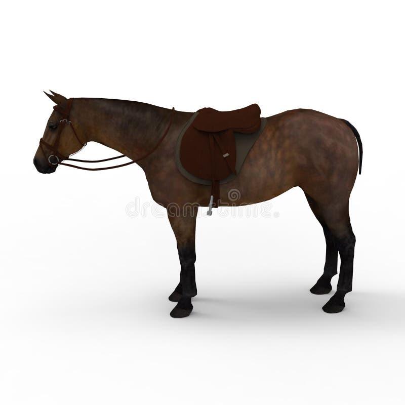 het 3d teruggeven van paard door een mixerhulpmiddel te gebruiken dat wordt gecreeerd vector illustratie