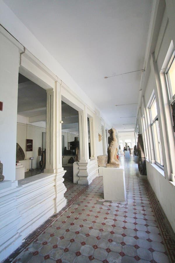 Het Da Nangmuseum van Vietnam van Cham-Beeldhouwwerk stock afbeeldingen