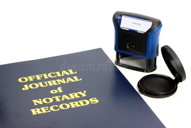 Het Dagboek van de notaris royalty-vrije stock afbeelding