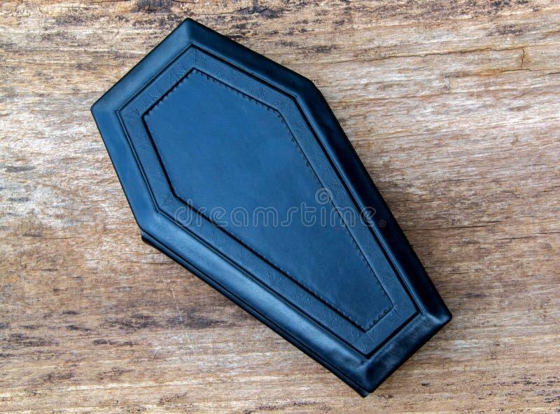 Het dagboek van het doodskistleer royalty-vrije stock afbeelding