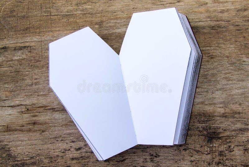 Het dagboek van het doodskistleer stock foto