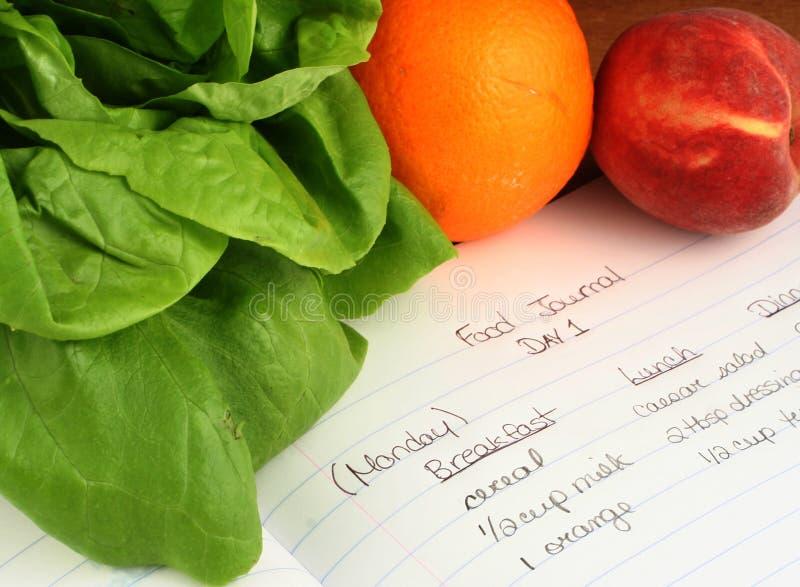 Het dagboek van het voedsel royalty-vrije stock afbeeldingen