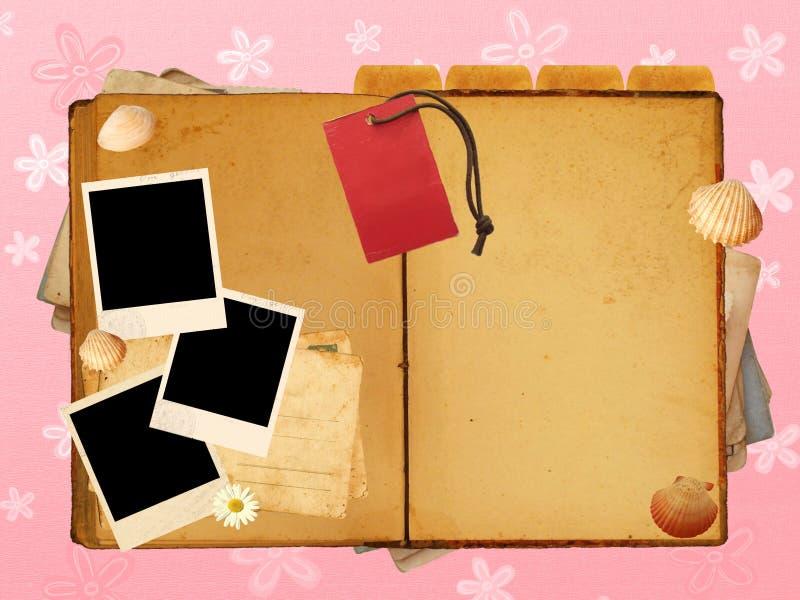 Het dagboeklay-out van meisjes royalty-vrije illustratie