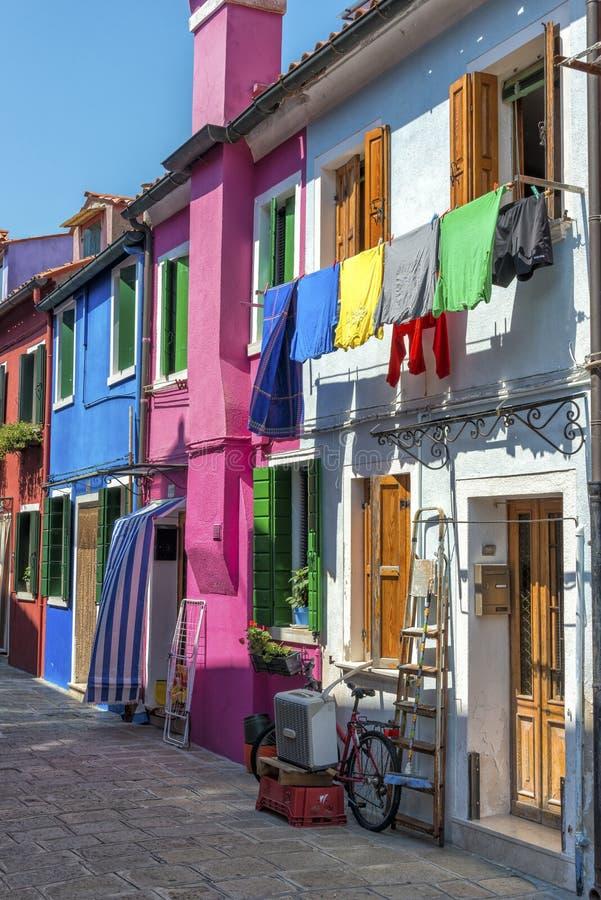 Het dagelijkse leven in Burano, Italië royalty-vrije stock foto