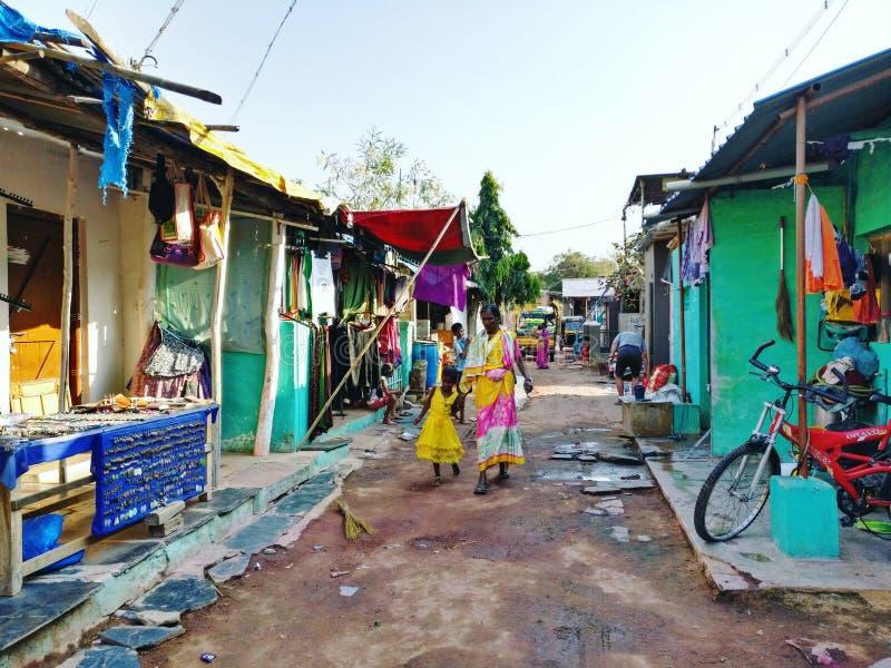 Het dagelijkse leven in India stock fotografie