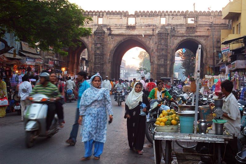 Het dagelijkse Leven van Gujarat stock foto's