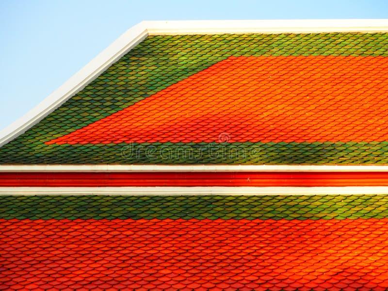 Het dak Thaise tempel van de kunstarchitectuur royalty-vrije stock afbeeldingen