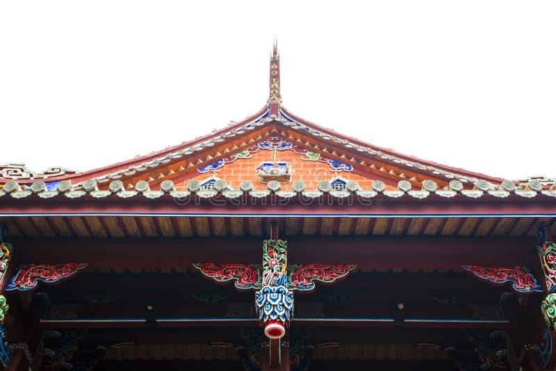 Het dak van een oude tempel royalty-vrije stock foto