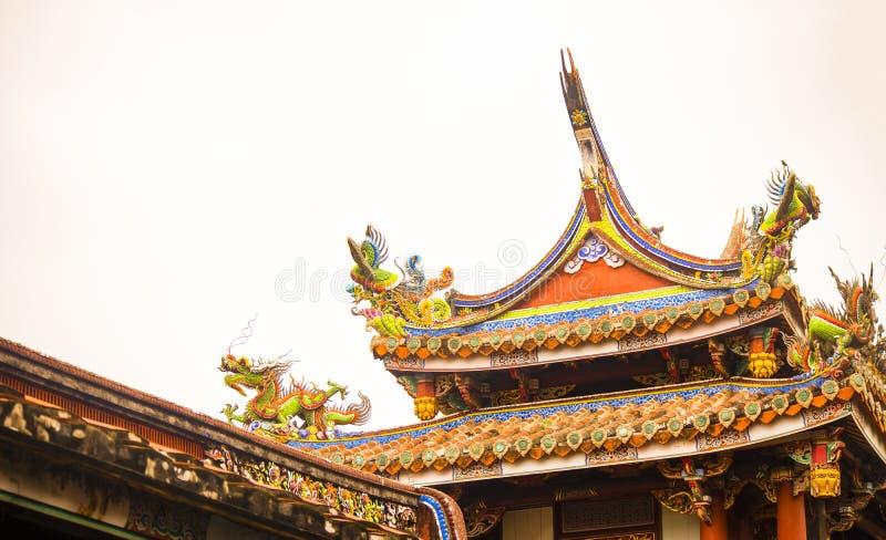 het dak van een oude tempel royalty-vrije stock fotografie
