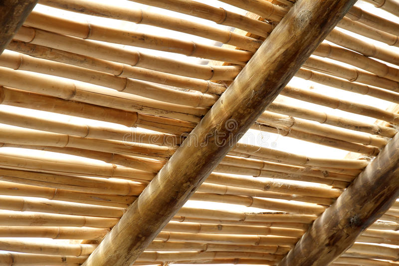 Het dak van het bamboe royalty-vrije stock fotografie