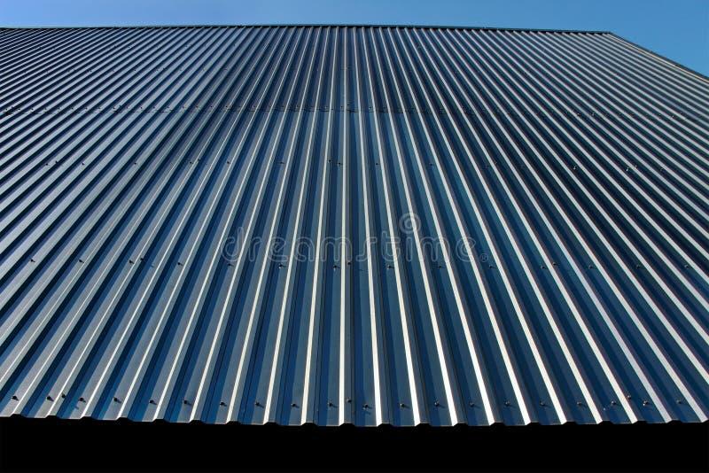 Het dak van het metaal. stock afbeeldingen