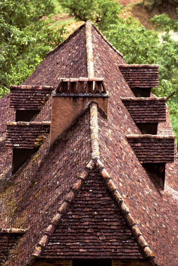 Het dak van Perigord royalty-vrije stock foto