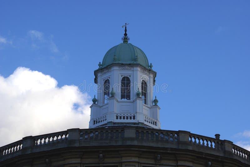 Het dak van Sheldonian-Theater in Oxford, Engeland stock foto