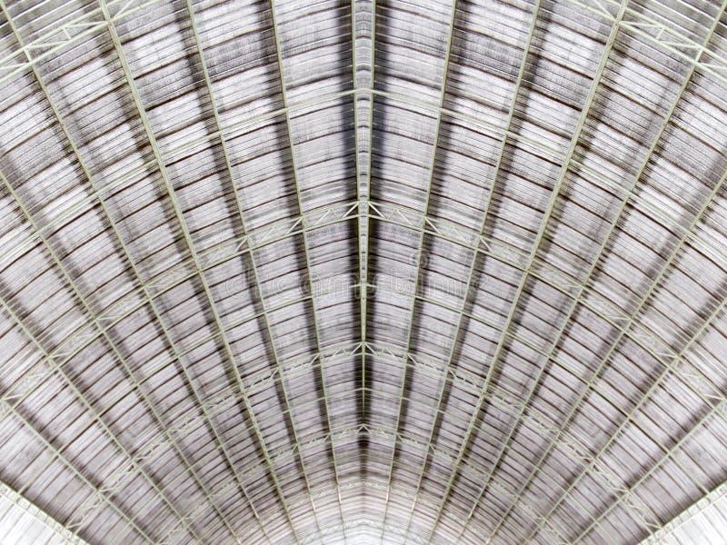 Het dakarchitectuur van de metaalstructuur stock foto's