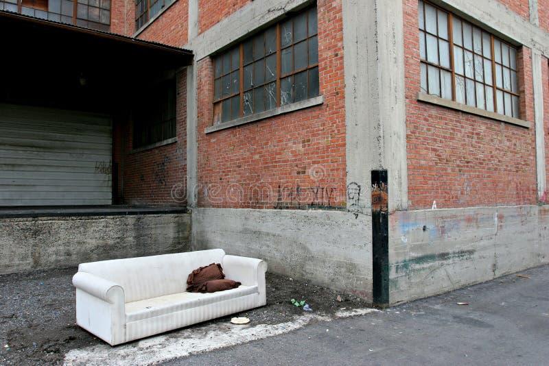 Het dakloze leven royalty-vrije stock foto