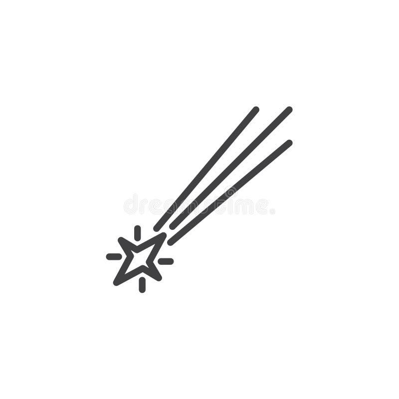 Het dalende pictogram van de sterlijn stock illustratie