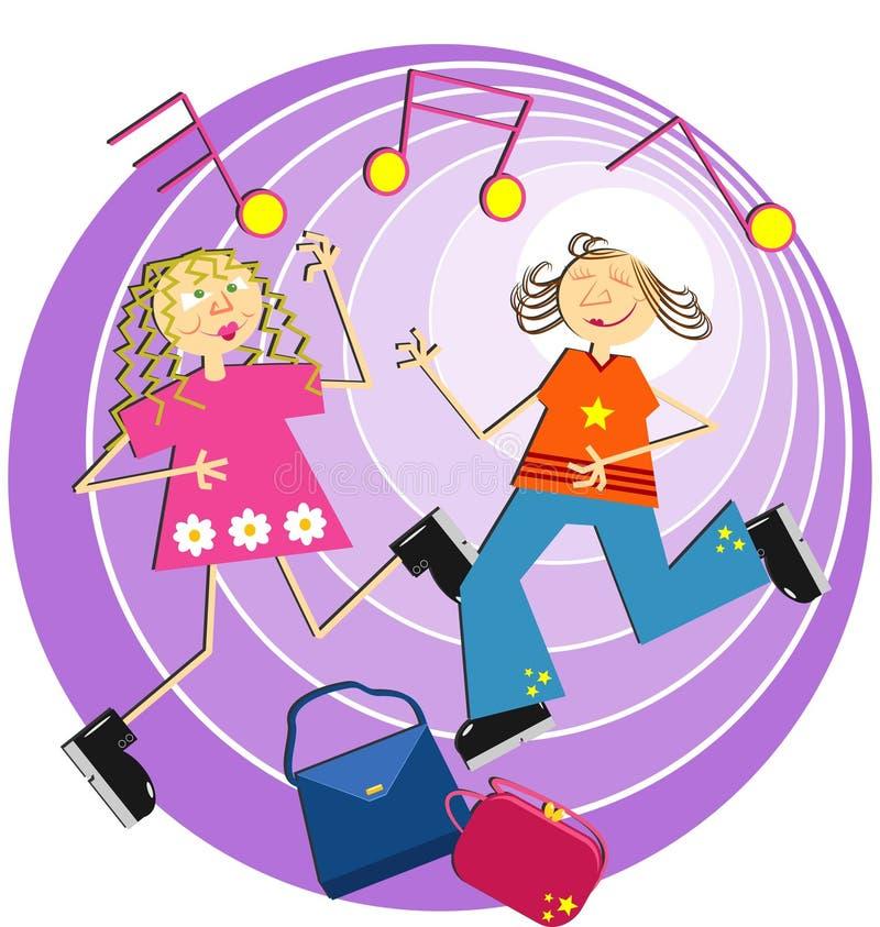 Het dansen stock illustratie