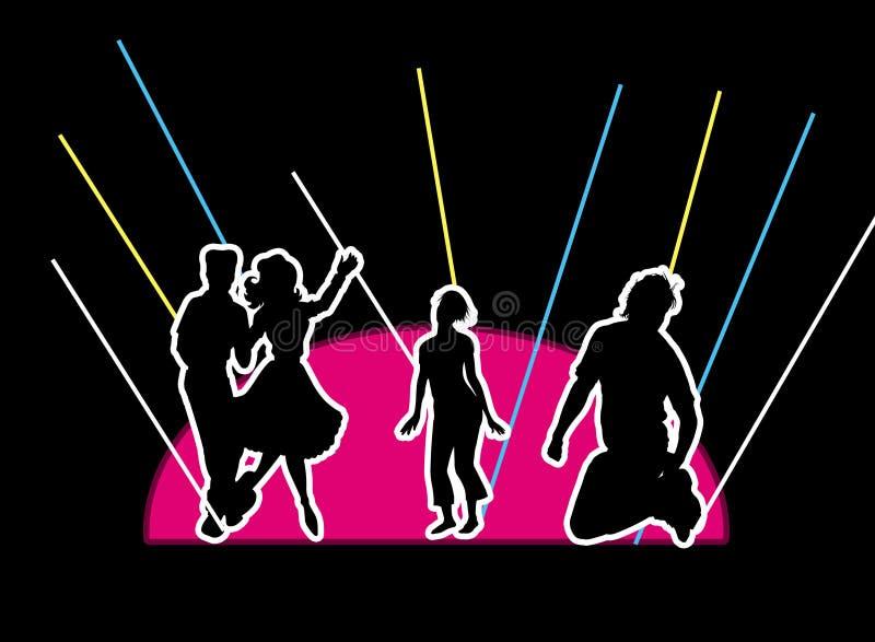 Het dansen vector illustratie