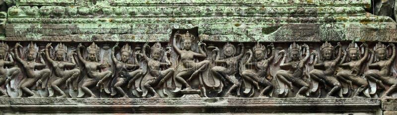 Het dansen apsara stock foto