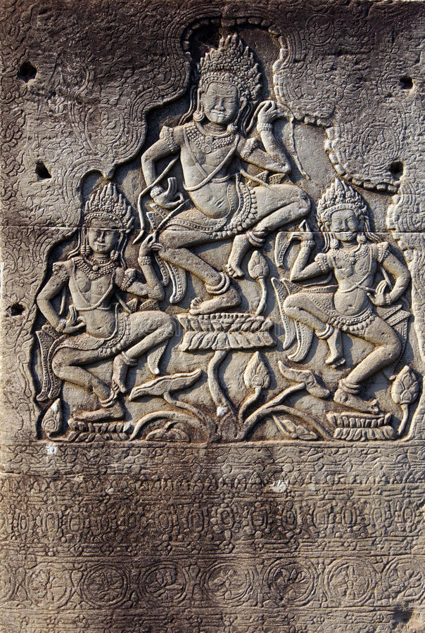 Het dansen apsaradevas royalty-vrije stock foto's
