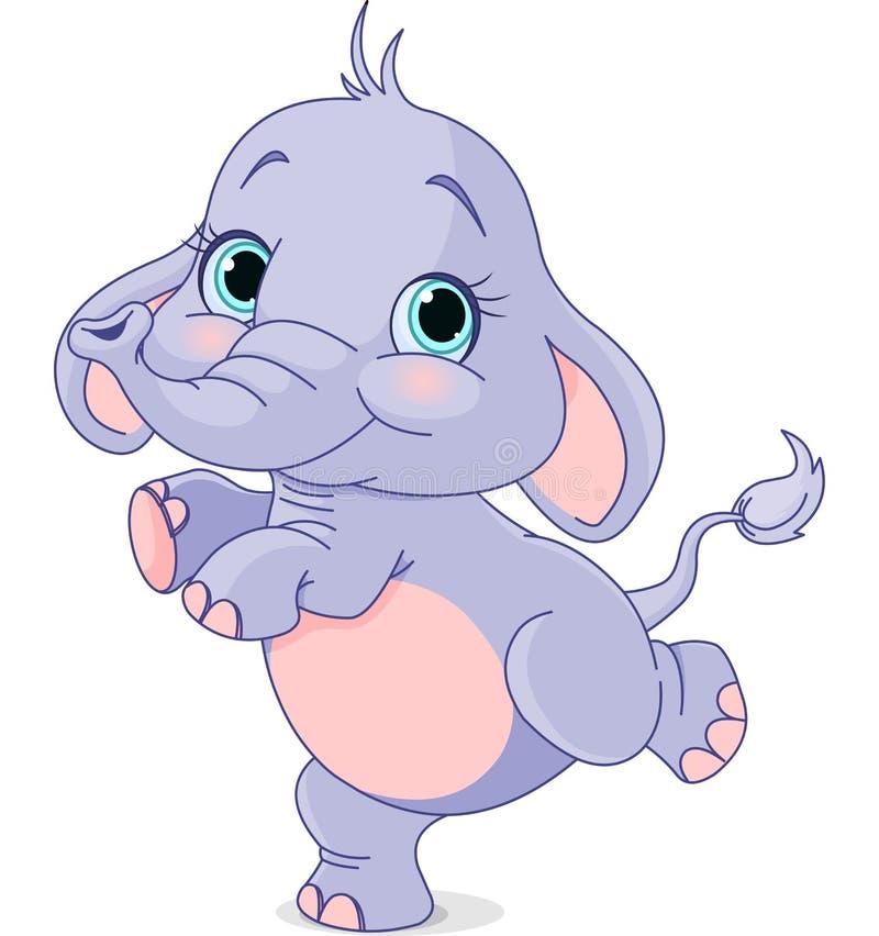 Het dansen babyolifant stock illustratie