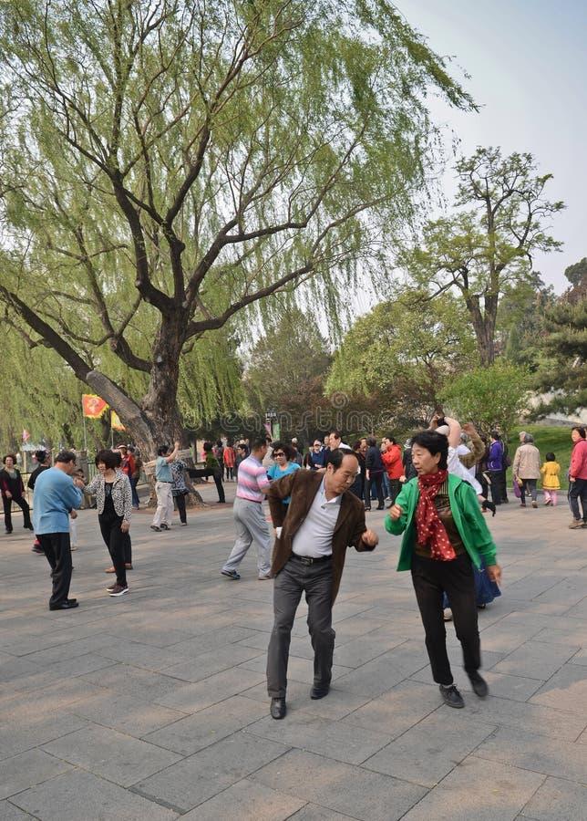 Het dansen in Beiahi-park royalty-vrije stock foto
