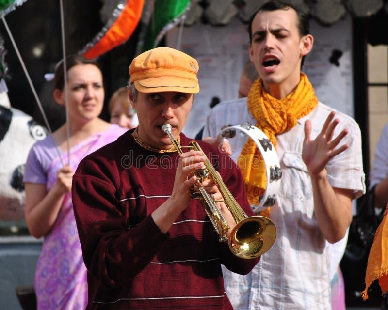 Het dansen Bewustzijn Krishna stock afbeeldingen