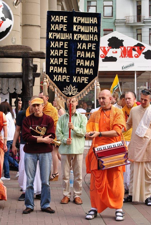 Het dansen Bewustzijn Krishna royalty-vrije stock afbeelding