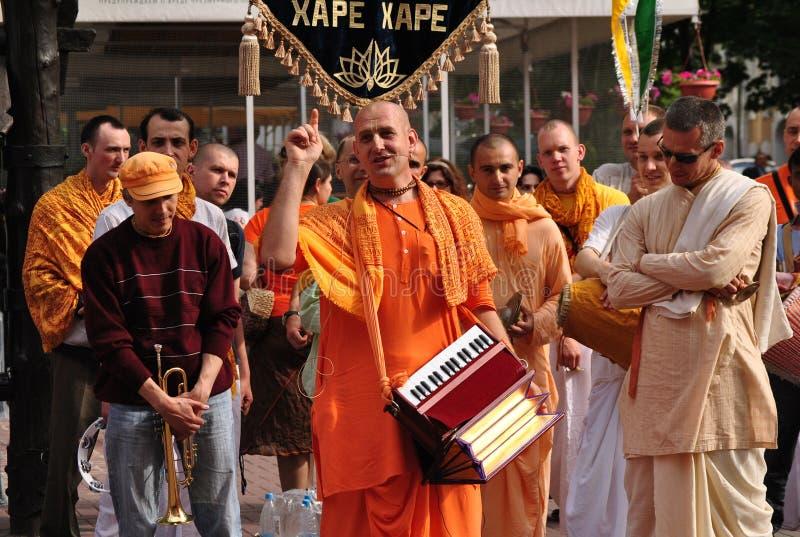 Het dansen Bewustzijn Krishna royalty-vrije stock fotografie