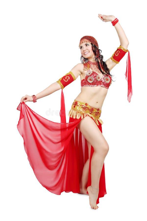 Het dansen buikdans stock fotografie