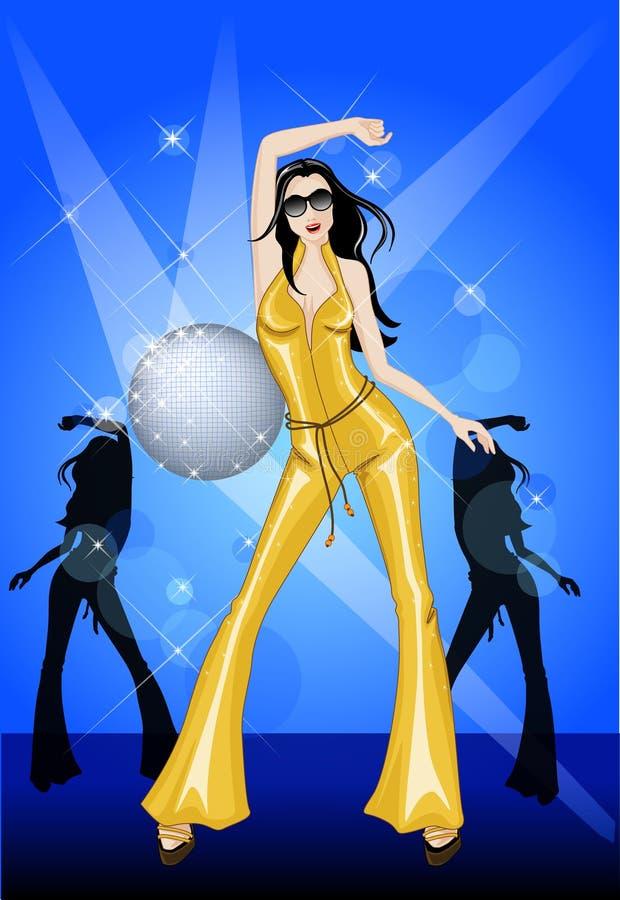 het dansen in de disco royalty-vrije illustratie