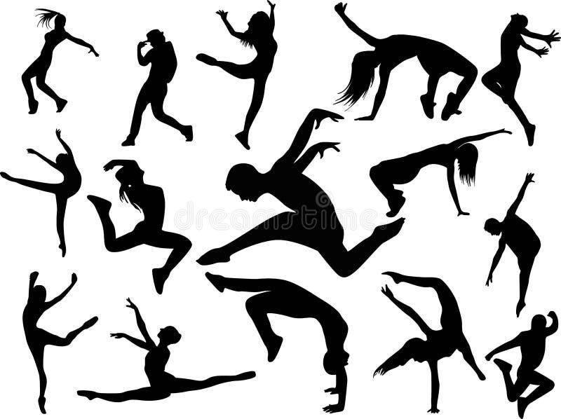 Het dansen en Partijmensen stock illustratie