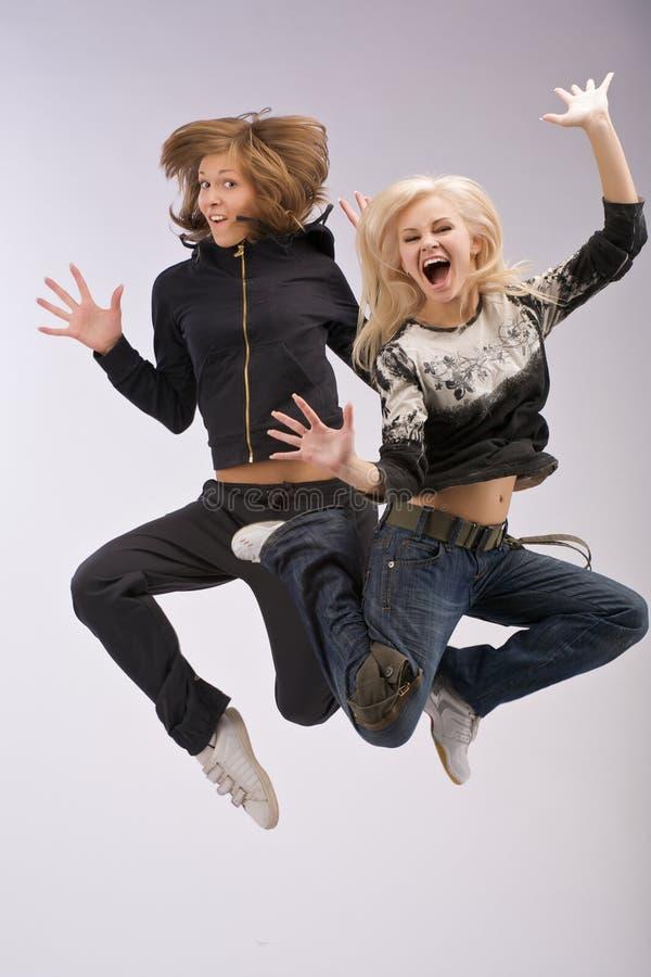 Het dansen het springen. royalty-vrije stock foto's