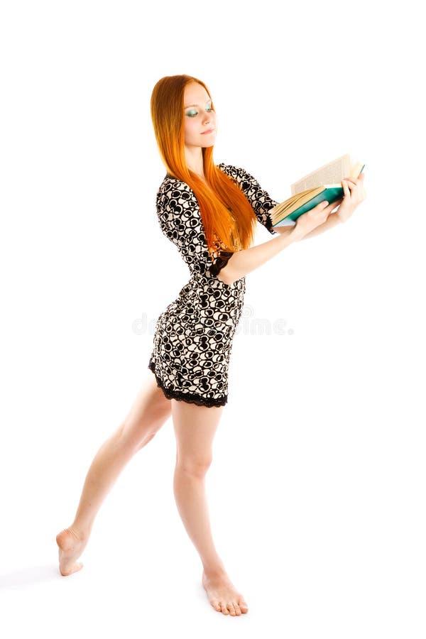 Het dansen met boek royalty-vrije stock afbeeldingen