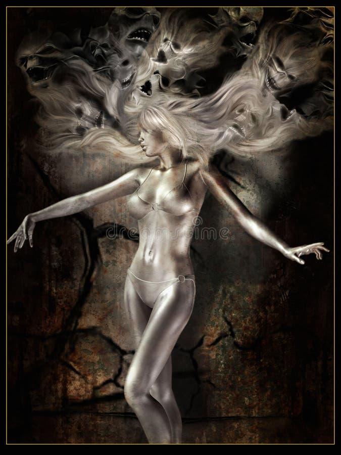 Het dansen met demonen stock illustratie