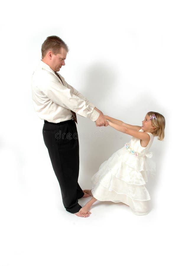 Het dansen met papa royalty-vrije stock afbeeldingen