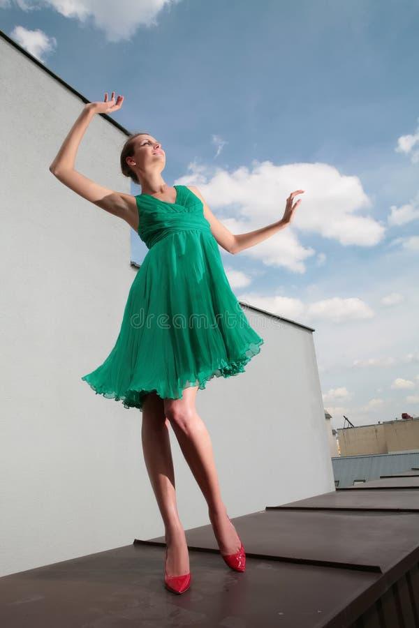 Het dansen met wolken royalty-vrije stock foto