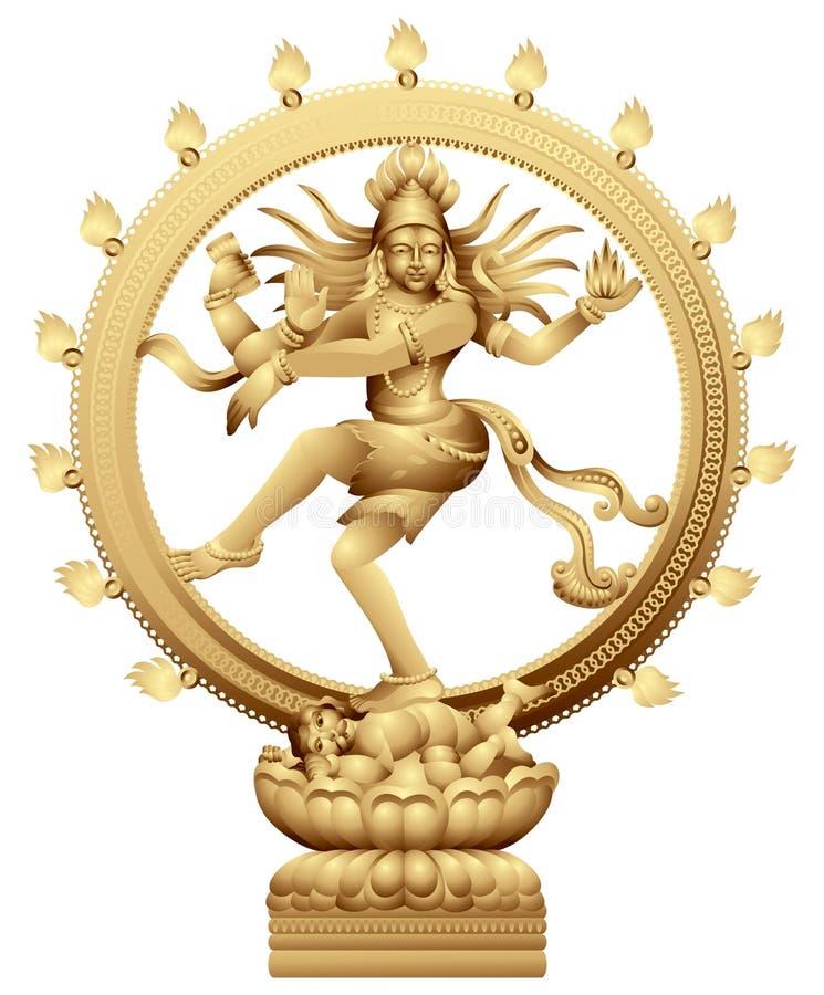 Het dansen Shiva royalty-vrije illustratie