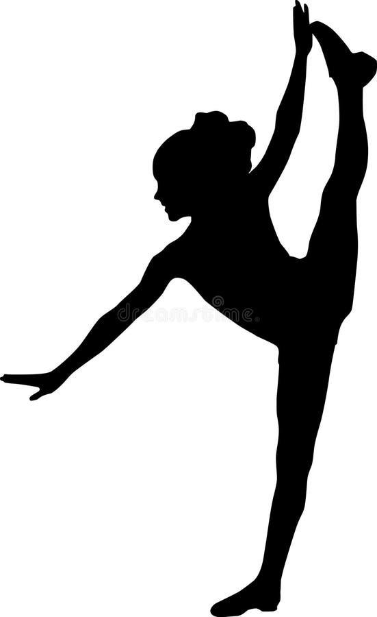 Het dansen silhouetjong geitje royalty-vrije illustratie