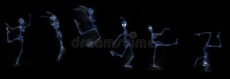Het dansen Skeletröntgenstraal stock illustratie