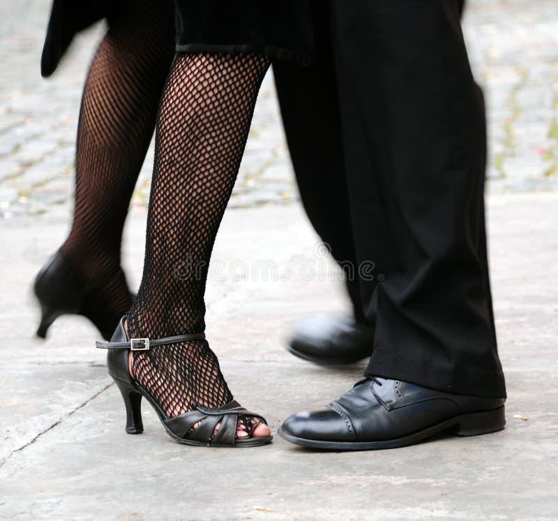Het dansen Tango stock afbeelding
