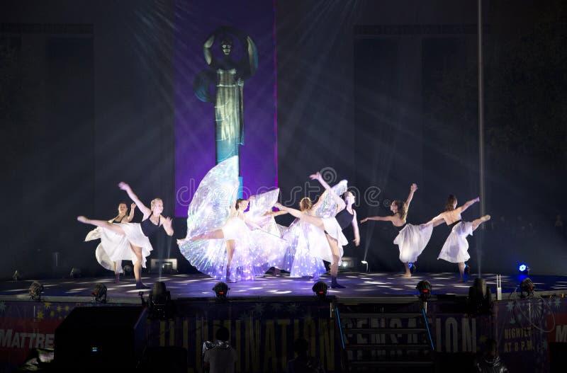 Het dansen toont bij nacht 2017 van Texas van de Staat de Eerlijke royalty-vrije stock afbeeldingen