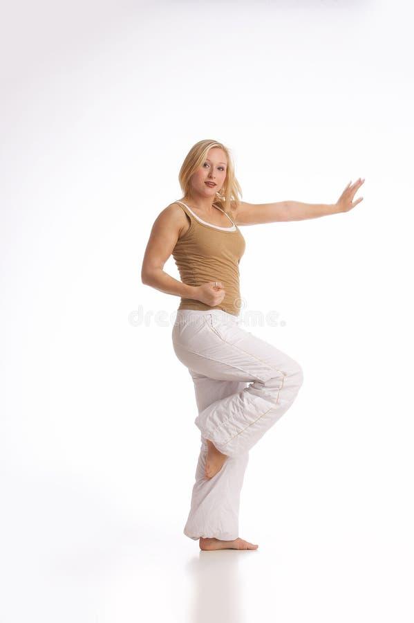 Het dansen training royalty-vrije stock afbeeldingen