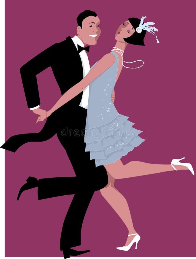 Het dansen van Charleston royalty-vrije illustratie