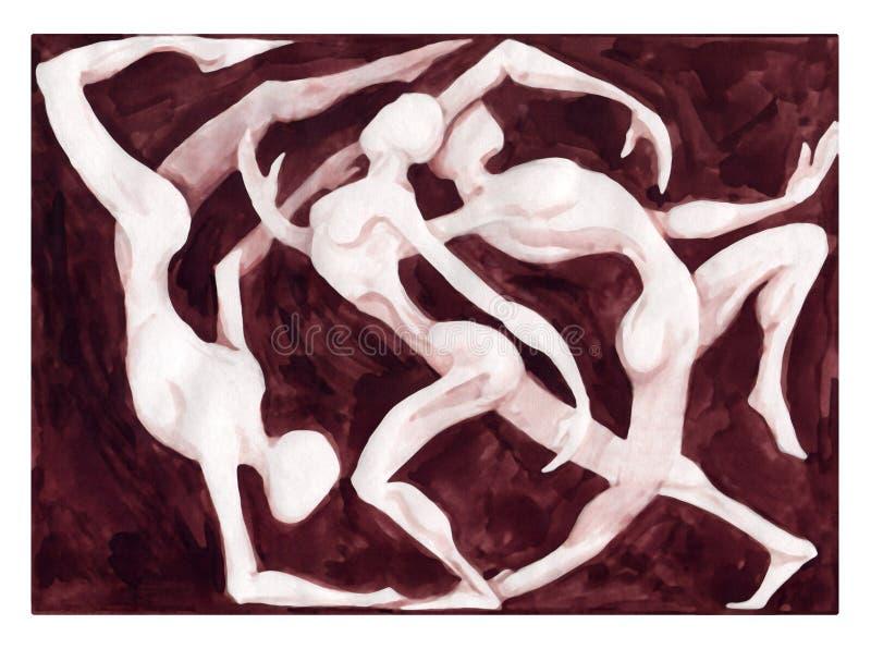 Het dansen van dansers vector illustratie