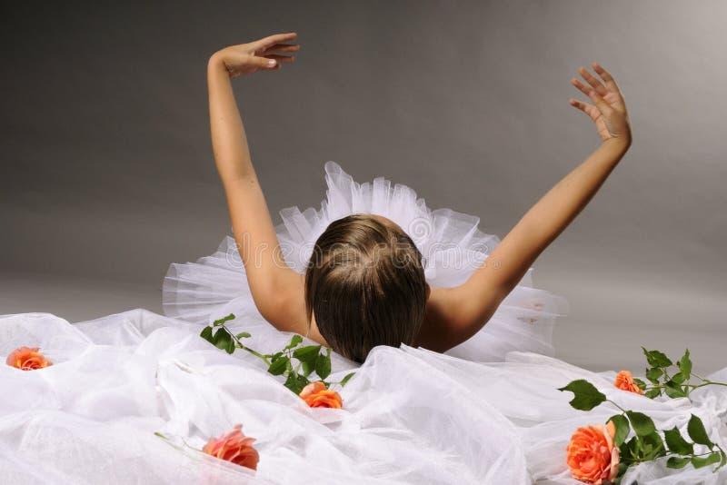 Het dansen van de ballerina stock foto