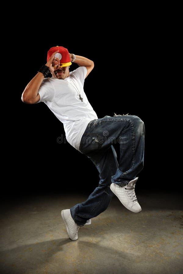 Het Dansen van de Danser van Hip Hop royalty-vrije stock afbeeldingen