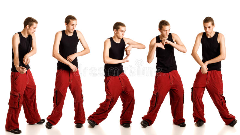 Het Dansen van de jonge Mens stock afbeeldingen